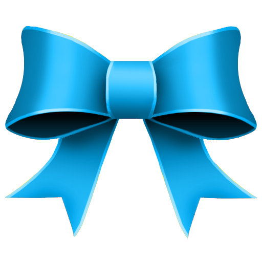 Blue ribbon png. Icon christmas set softicons