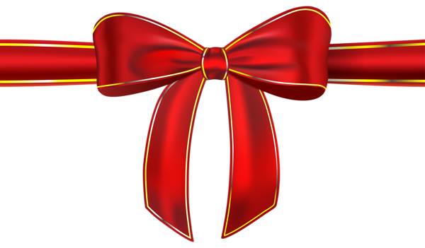 Ribbon bow png. Red with clipart picture