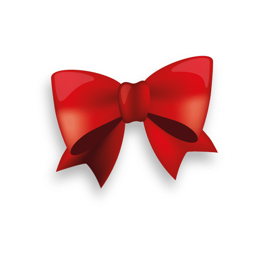 Ribbon bow png. Glossy red transparent svg