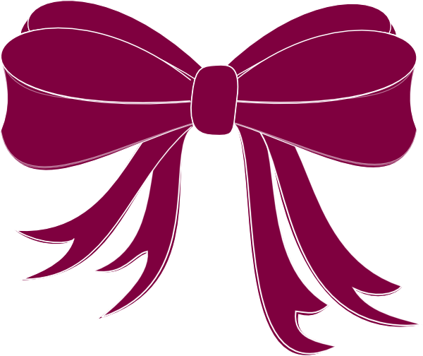 Streamers vector purple. Bow ribbon clip art