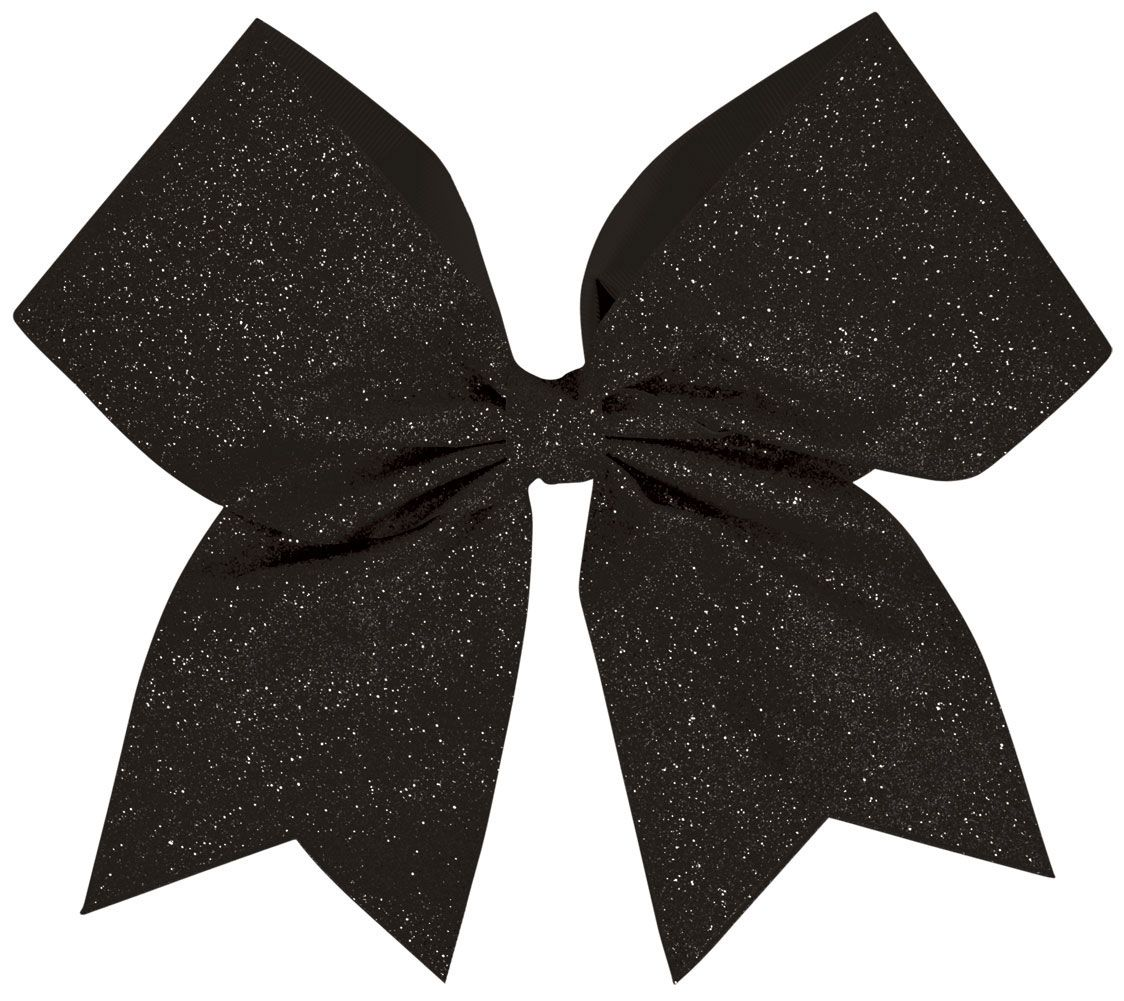 Ribbon clipart cheerleader. Black cheer bow khs