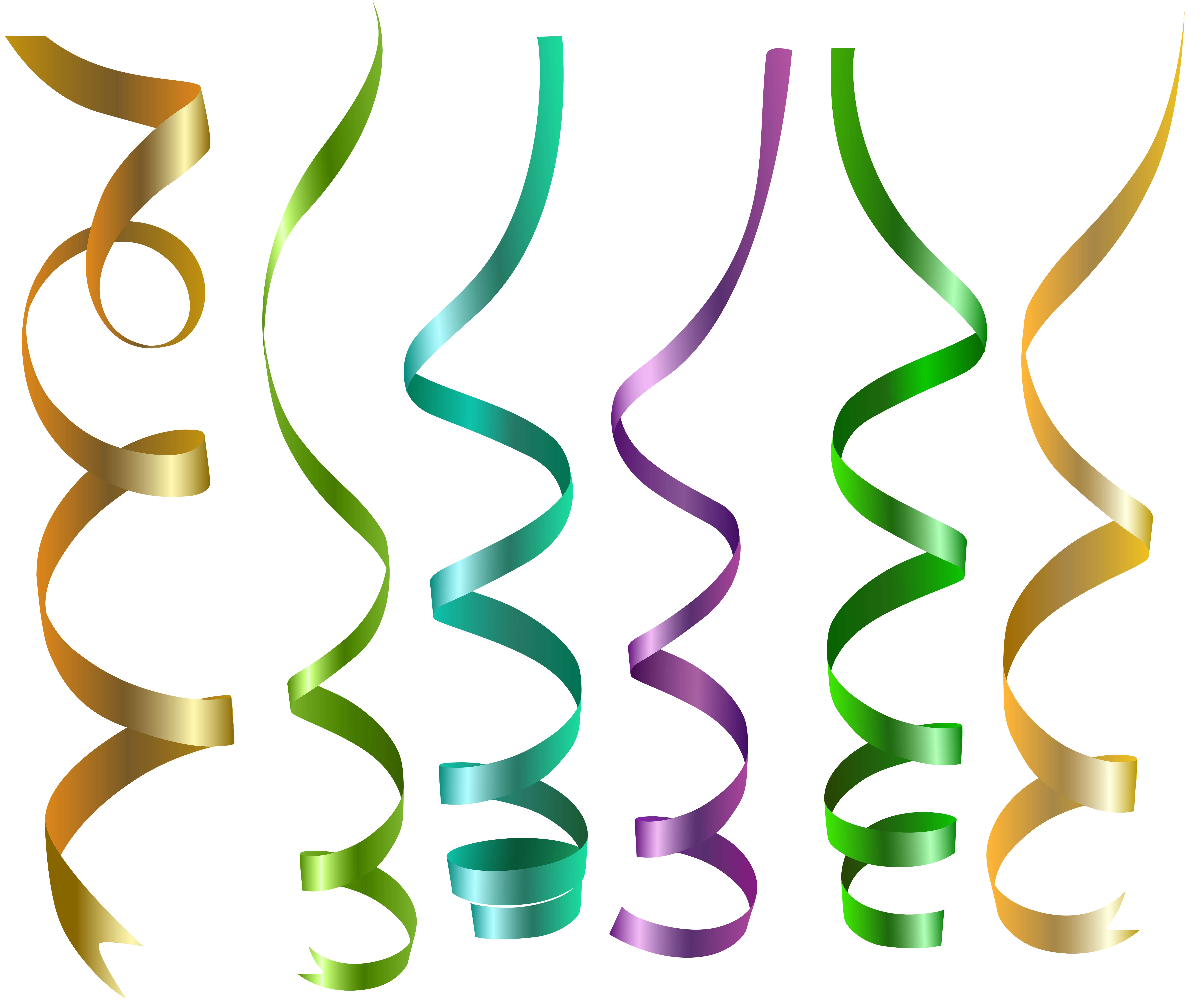 Transparent ribbons curly. Png clip art image