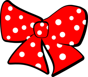 Ribbon clipart minnie mouse. Bow clip art at