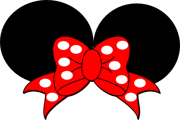 Ribbon clipart minnie mouse. Red clip art at