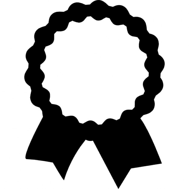 Ribbon clipart recognition. Award label with tails