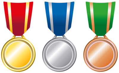 Ribbon clipart silver medal. Download gold free png