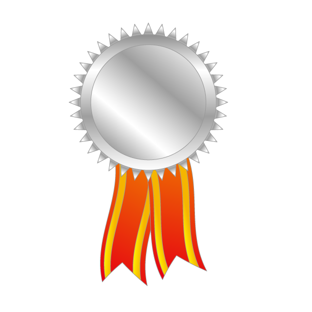 Sports clipart ribbon. Silver medal nd olympic
