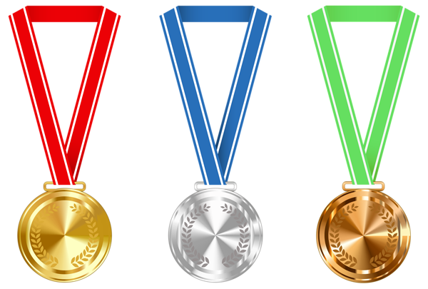 medals drawing retro