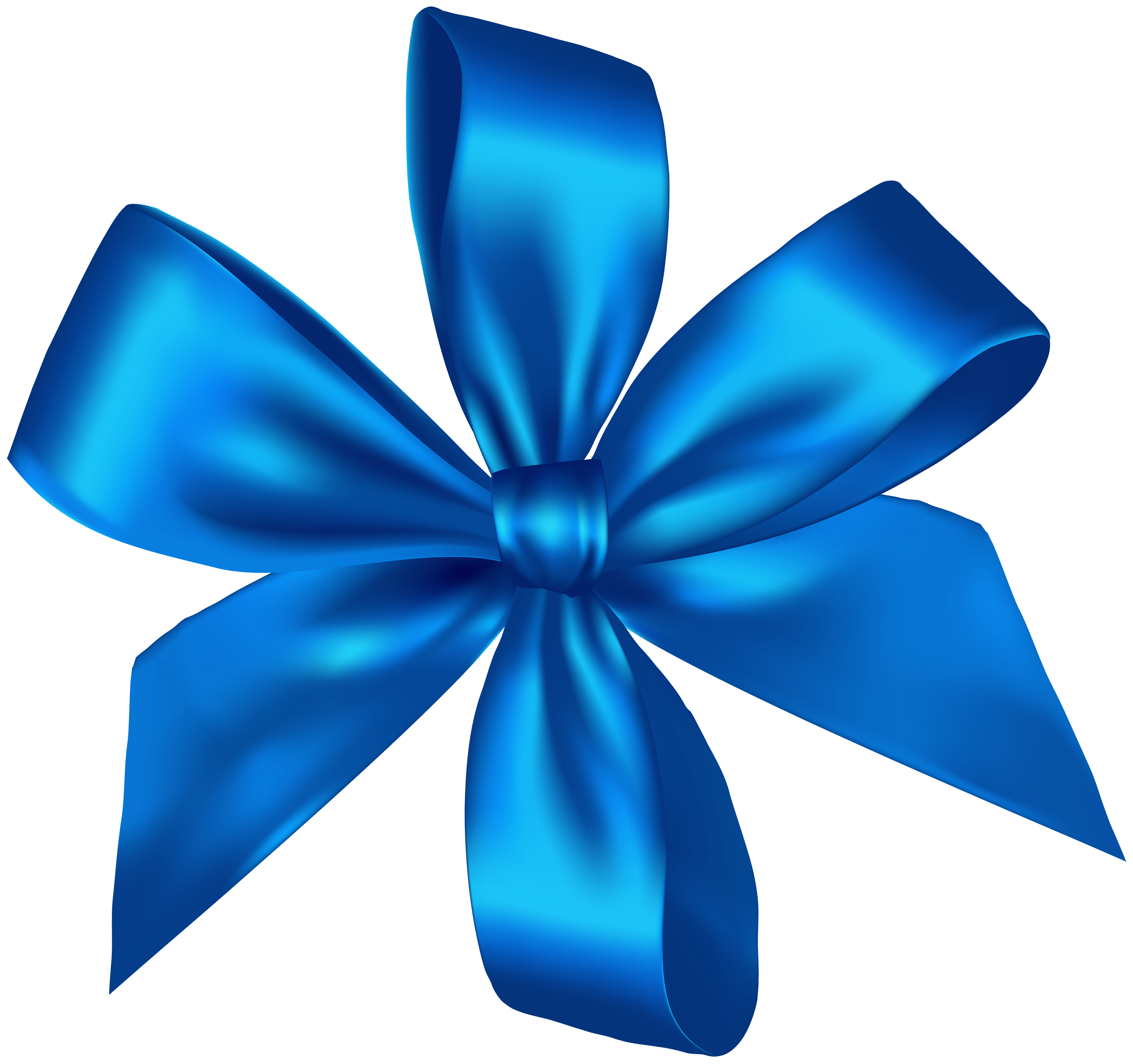 blue bow png