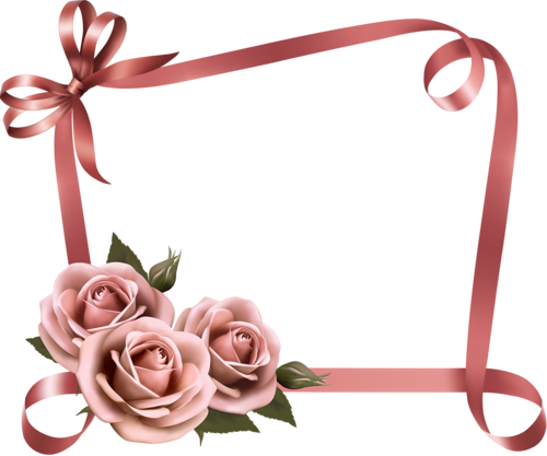 Ribbon frame png. Beautiful flower with frames