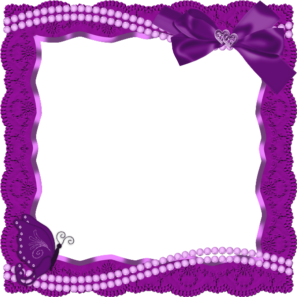 Ribbon frame png. Transparent with butterfly and