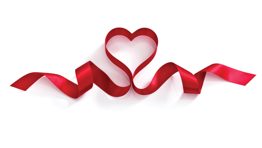 Ribbon heart png. Love transparent stickpng