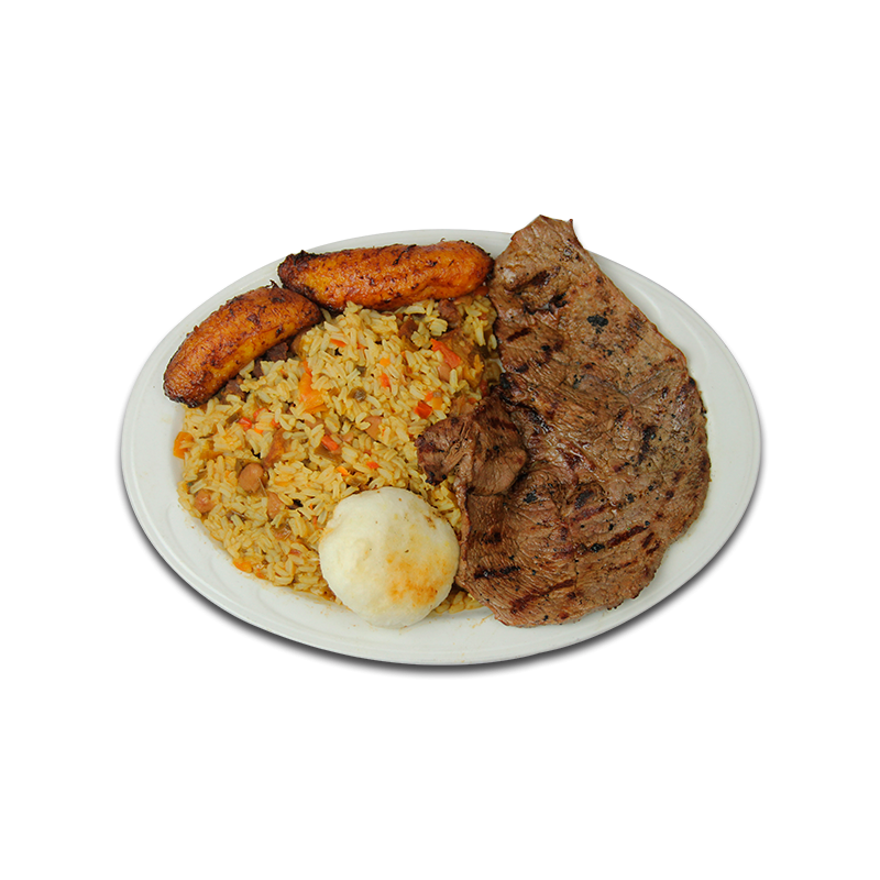 Rice and beans png. Mixed grilled steak pollos