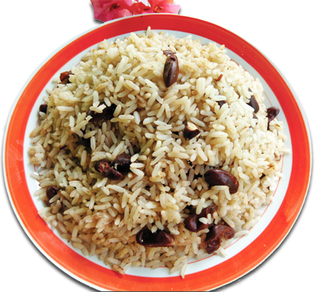 Rice and peas png. Lets cook jamaican let