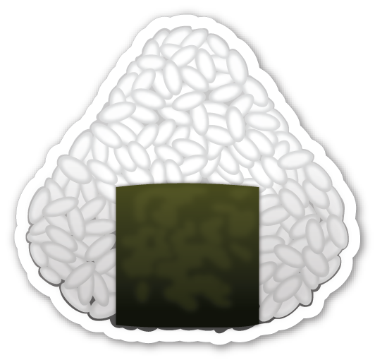 Rice ball png. Emojistickers com