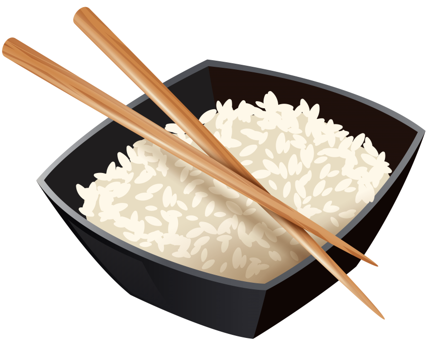 Rice clipart plate rice. Chinese and chopsticks png