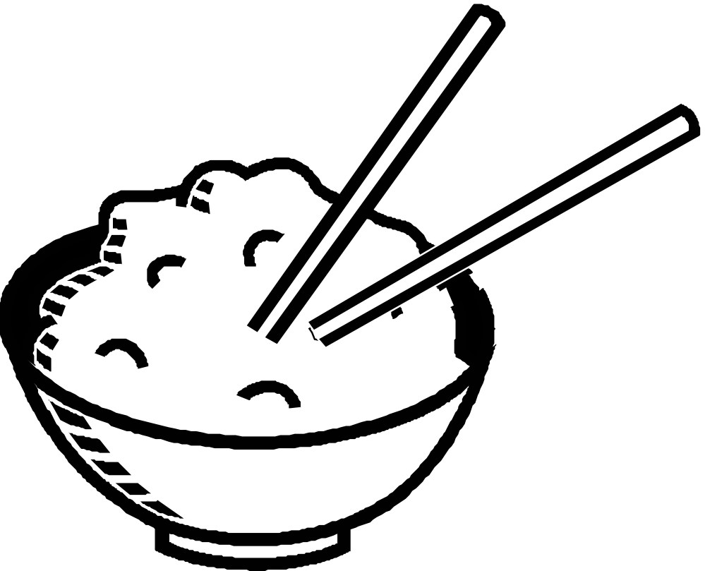 Chopsticks clipart plate rice. Free bowl cliparts download