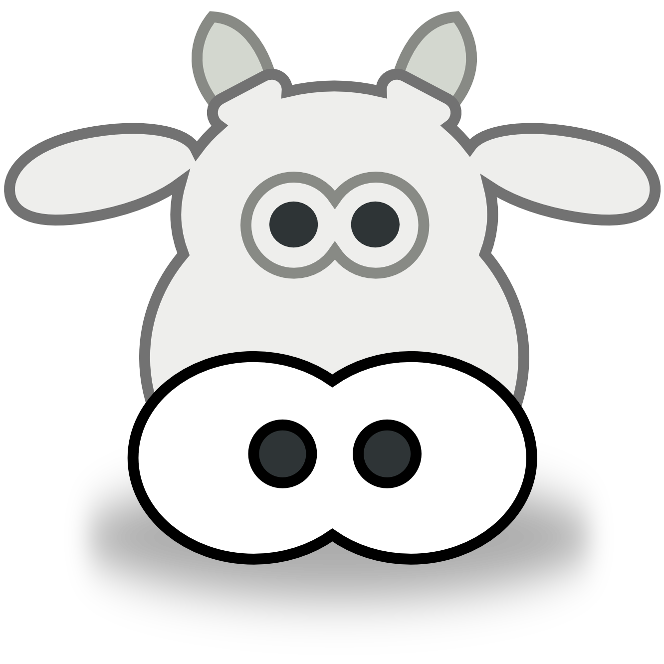 Drawing cow colour. Coloring pages face clip