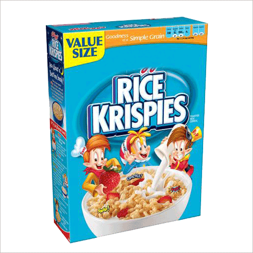 rice krispie treats cereal box png