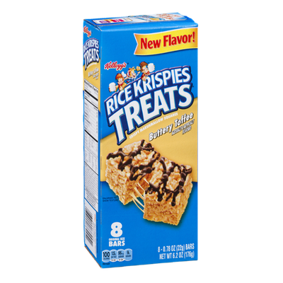 Rice krispies treats png. Kellogg s buttery toffee