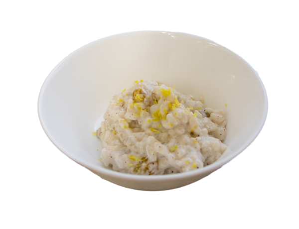Rice pudding png. With almonds and golden