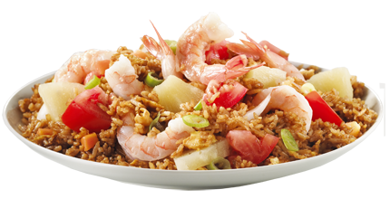 Chicken fried rice png. Plate image
