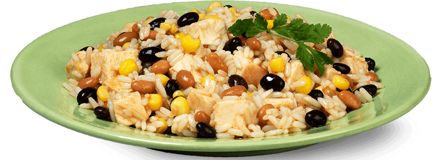 Rice and beans png. One pot chicken recipe