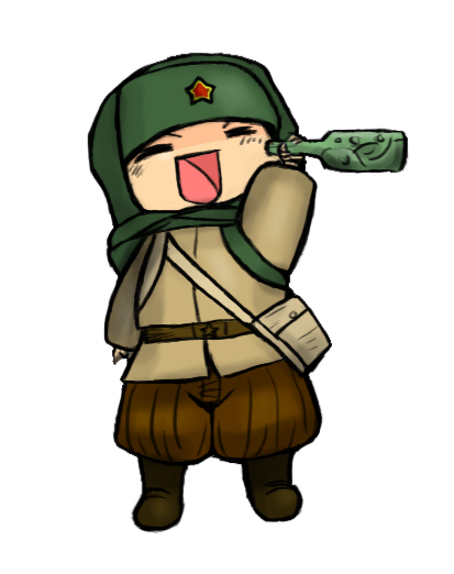 Richtofen drawing artwork. Chibi le vodka by