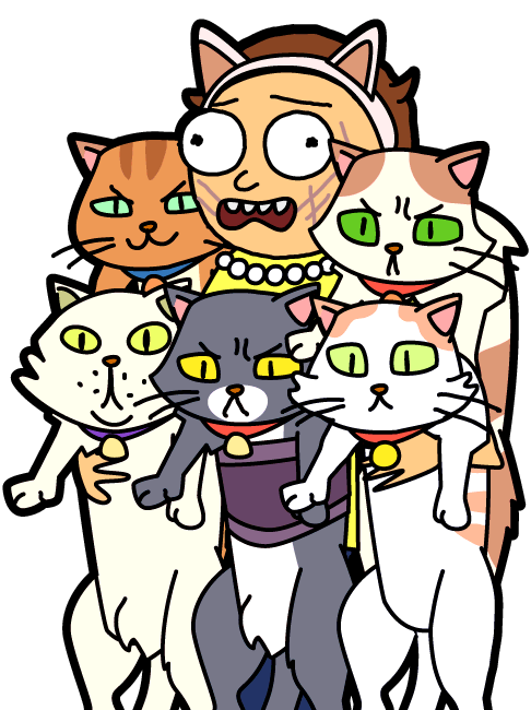 rick and morty cat png