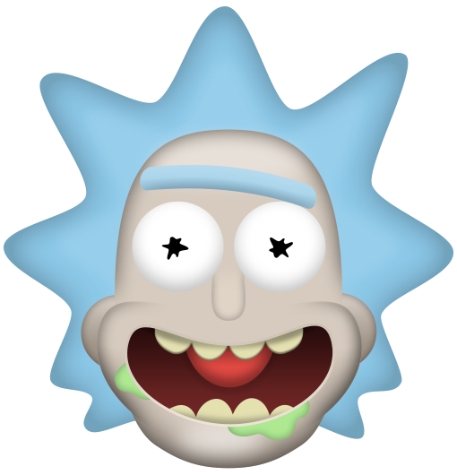 Rick and morty emoji png. Rickileaks the adult swim