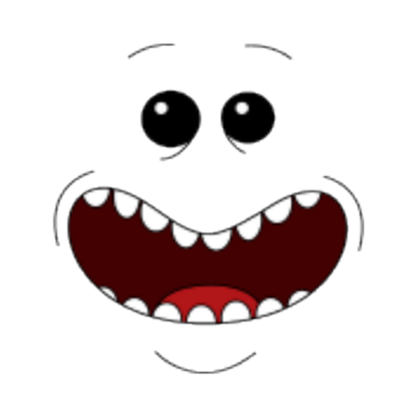Rick and morty rick face png. Mr meeseeks roblox