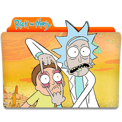 Rick and morty icon png. Folder icons vector free