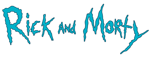 Rick and morty logo png trans. Transparent stickpng