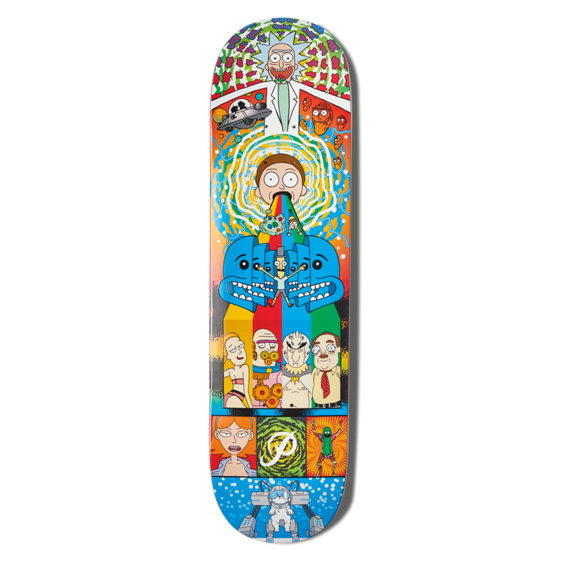 Rick and morty png. Collage deck primitive skateboarding