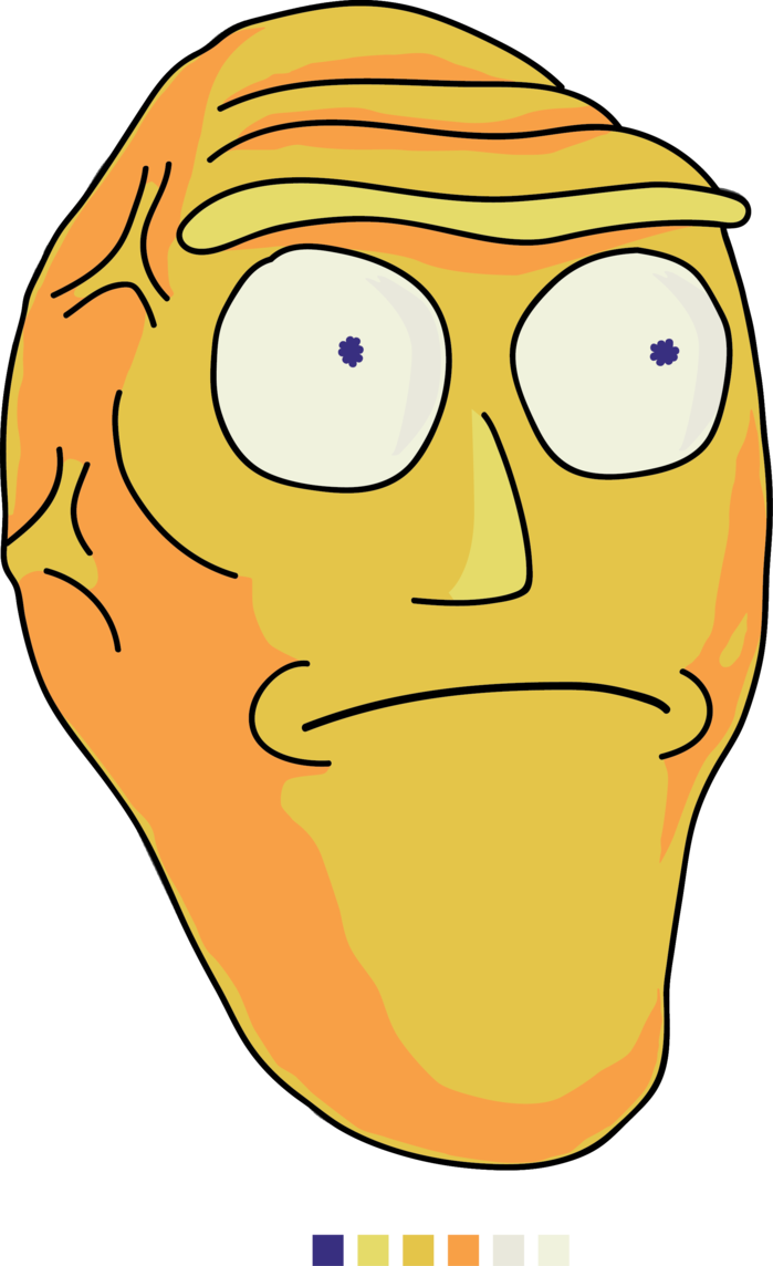 Rick and morty png. Planet head from by