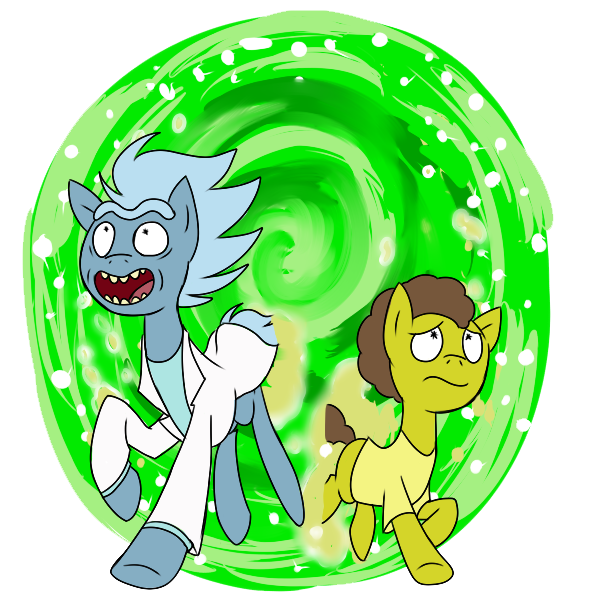Rick and morty png portal. Artist gintoki crossover