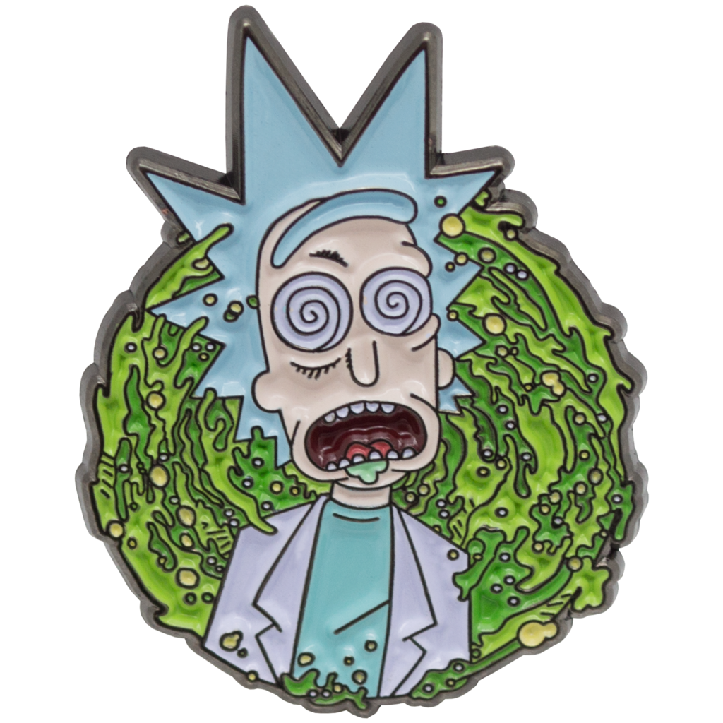 Rick and morty png portal. Dazed enamel pin atomic