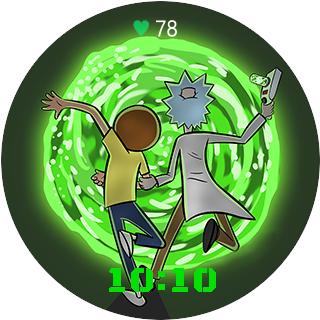 Rick and morty portal png. Simple amazfit watchface builder
