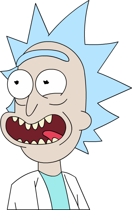 Rick and morty rick face png. New cartoon by dan