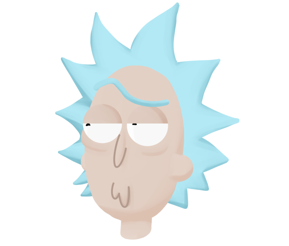 Rick and morty rick face png. That by dyehuthy on