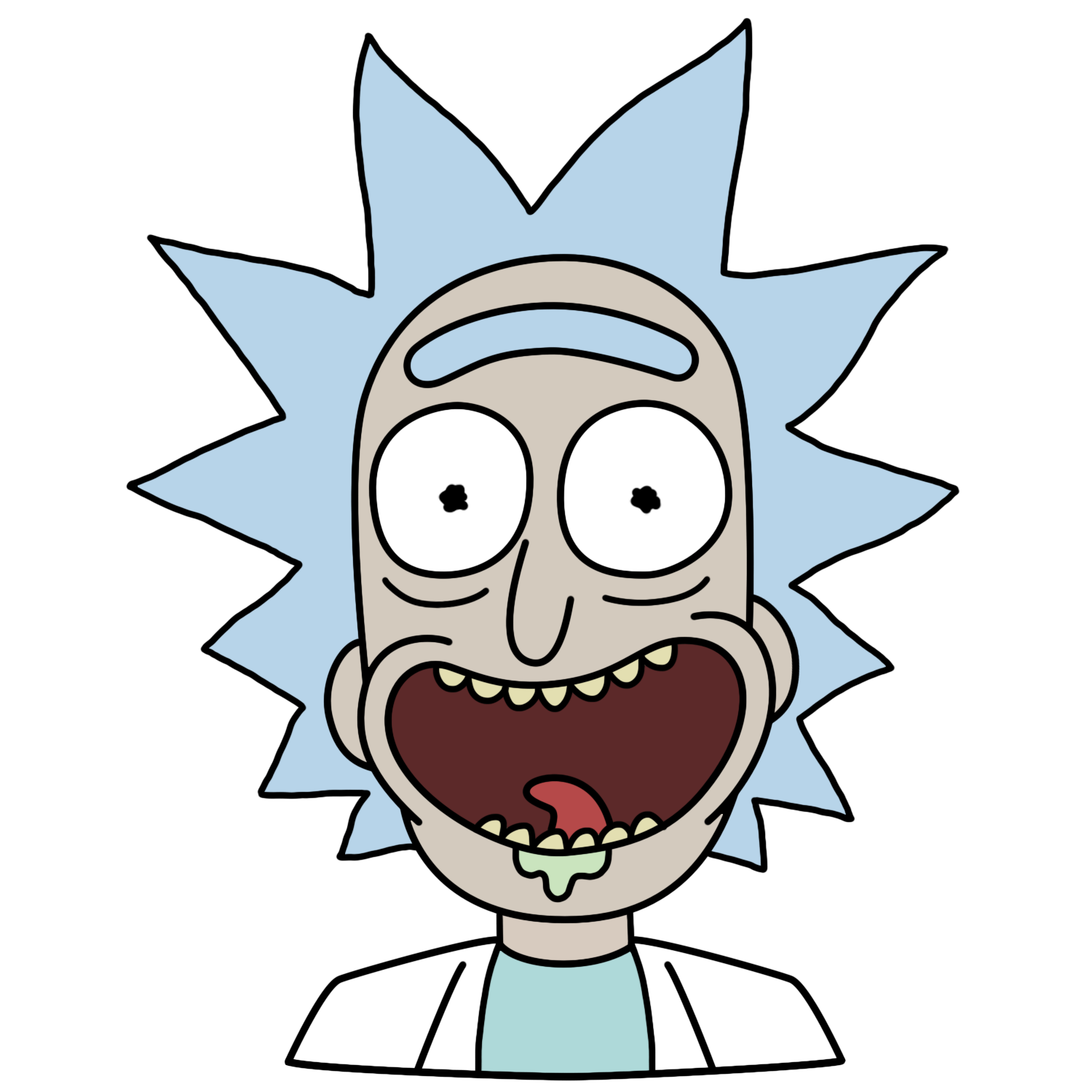 Rick head png. Facebook stickers and morty