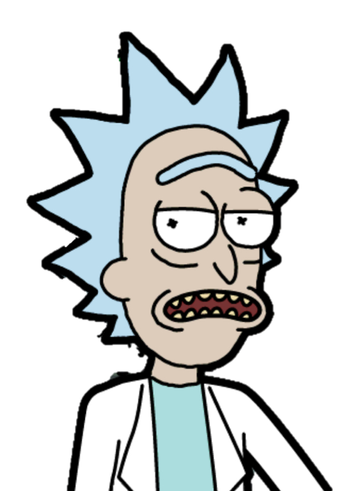 Rick and morty rick face png. Image hopeful ric wiki