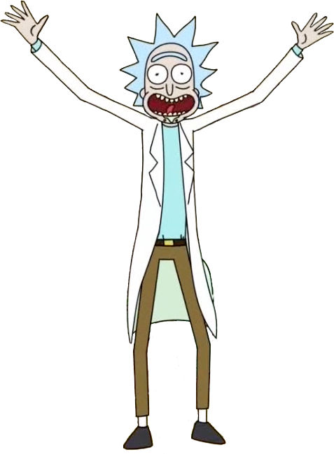Rick and morty rick png. Cutout from meeseeks destroy