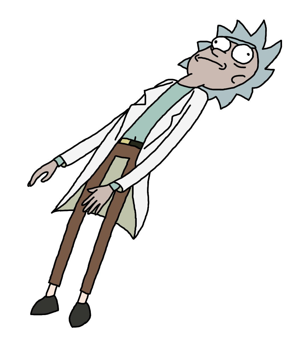 Rick and morty running png. Here a of punched
