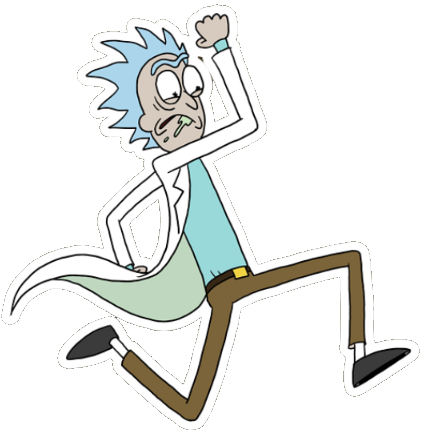 Rick and morty running png. Image rickrunning quidd wiki