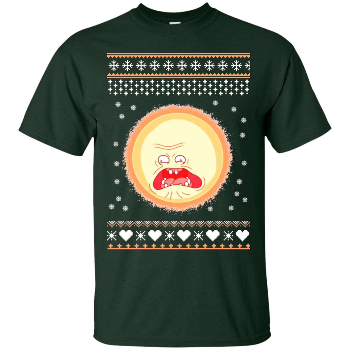 Rick and morty screaming sun png. Christmas sweater teedragons