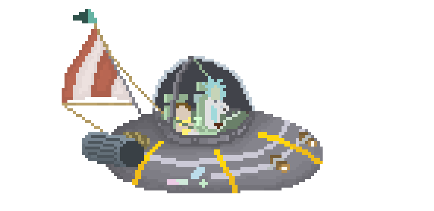Rick and morty spaceship png. Pixel art maker