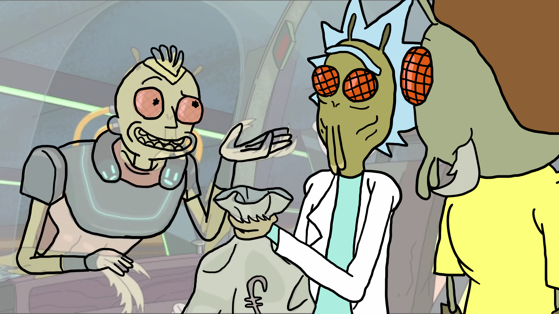 Rick and morty wallpaper png. An unfinished edit of