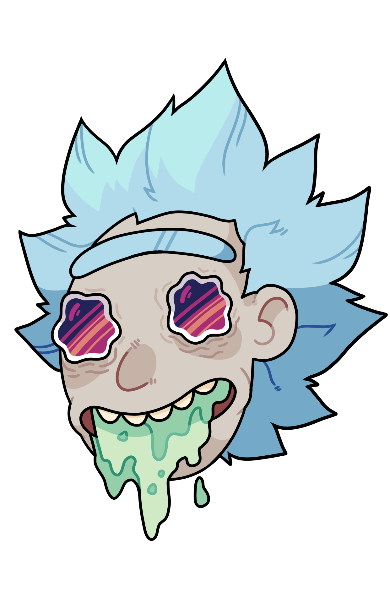 Rick morty face png. Download and clipart hq