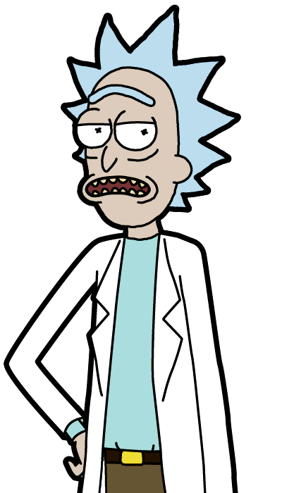 rick and morty rick ebrio png